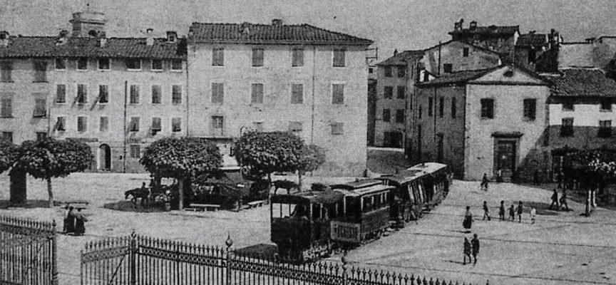 PRIMA DEL 1900, IL TRENINO  ANDAVA  DA LUCCA A PONTE A MORIANO
