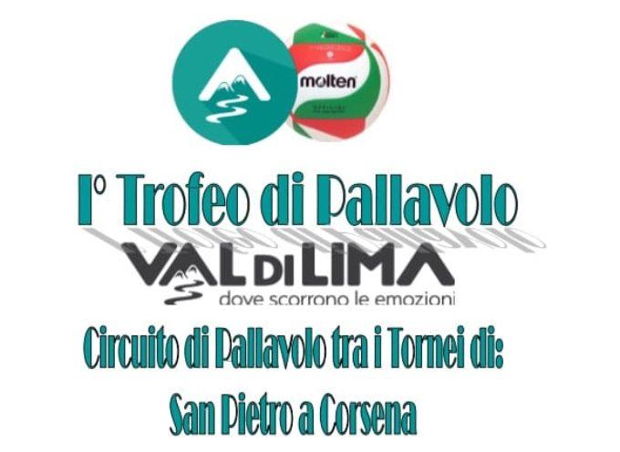 la nascita del 1° Trofeo di Pallavolo della Val di Lima.