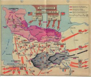 6 giugno D-day bigmap