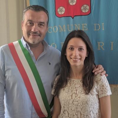 Un'altra giovane laureata con 110 e lode ricevuta  in Comune dal sindaco Fornaciari