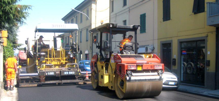 VIABILITA': per lavori di asfaltatura chiusi di notte al transito alcuni tratti  della via Pesciatina e della sp 61 Variante di Porcari