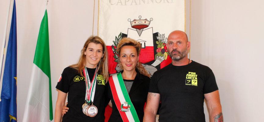 RICEVUTA DALL'ASSESSORE ALLO SPORT SERENA FREDIANI  LA CAMPIONESSA DI KICK BOXING DANIELA GHEZZI