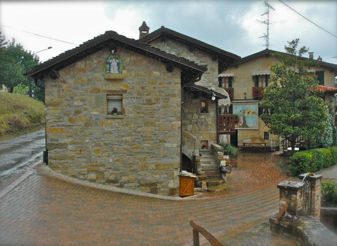 Le case rurali in pietra e sasso.