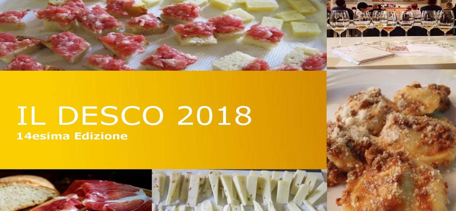 Il cibo e l'alimentazione in primo piano a Il Desco 2018