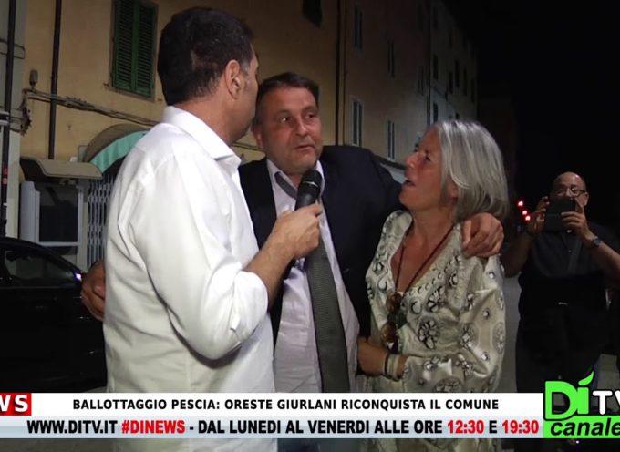Ballottaggio a Pescia: Oreste Giurlani riconquista il comune