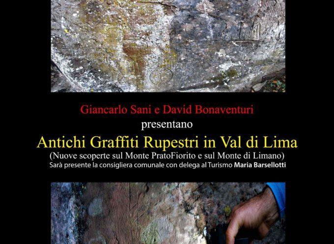 Presentazione Nuove scoperte incisioni rupestri, a  bagni di lucca
