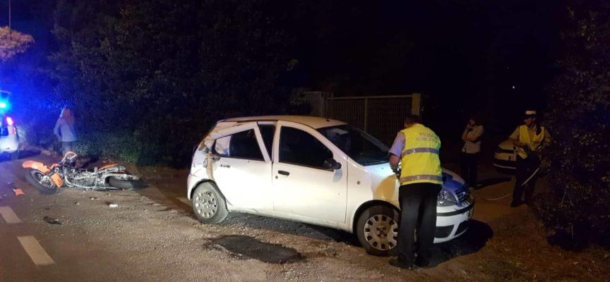 Incidente ieri sera sulla via Unità d´Italia
