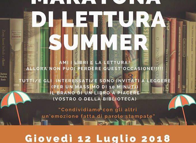 Biblioteca: ecco la maratona di lettura in versione Summer. A  Seravezza
