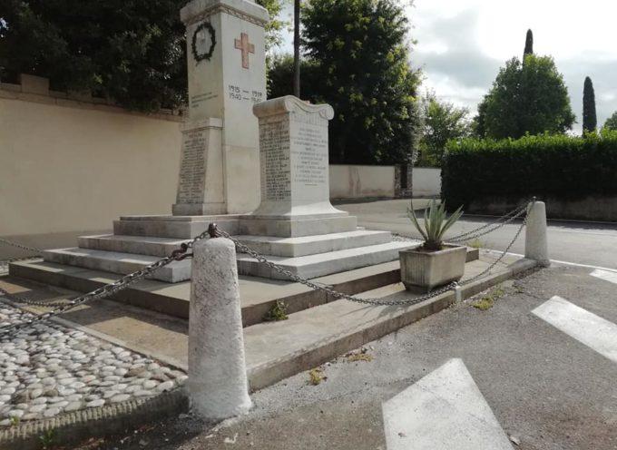 SISTEMATO A TEMPO DI RECORD IL MONUMENTO AI CADUTI A MARLIA