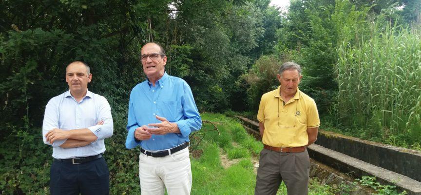 Scavo dei canali irrigui e progettazione della nuova cassa d'espansione sul Rio Casale