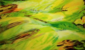 Giuliano Lorandi - Pensiero n°1, alchidico su tela applicata su compensato, cm. 70x120, 2016