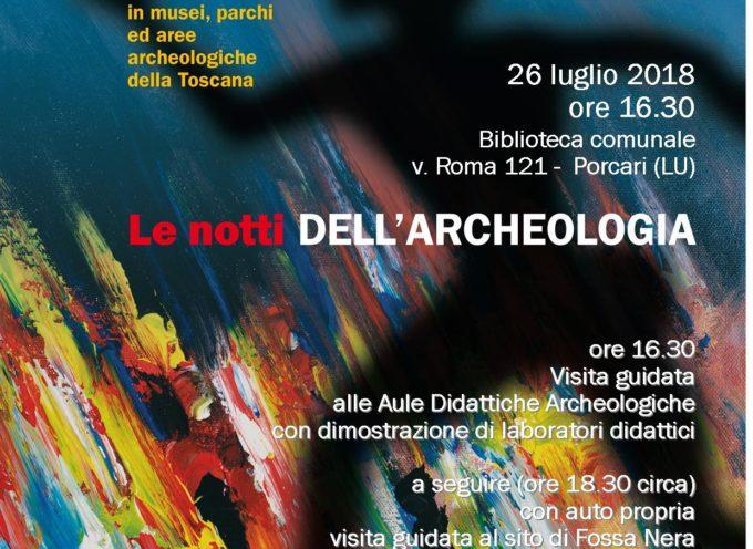 Tornano le notti dell'archeologia, a Porcari