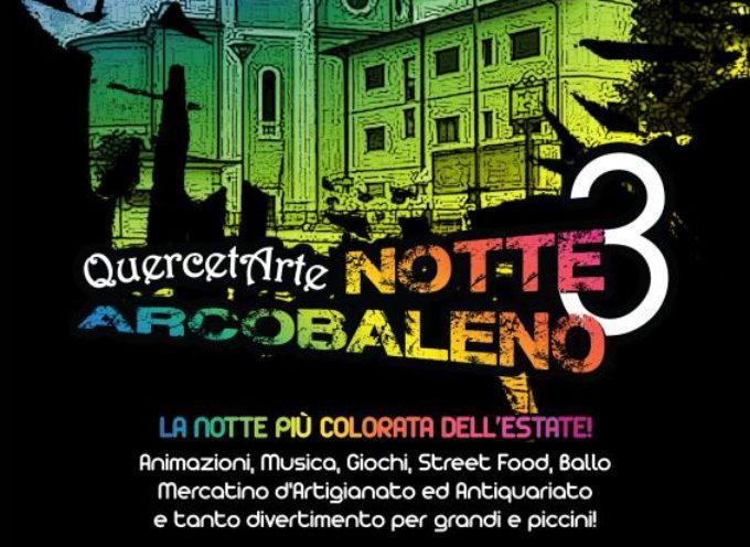 Torna la Notte Arcobaleno a Querceta. Musica, street food e giochi per i più piccoli