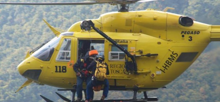 altro incidente in montagna questo mese, a Vergemoli con pegaso in ospedale