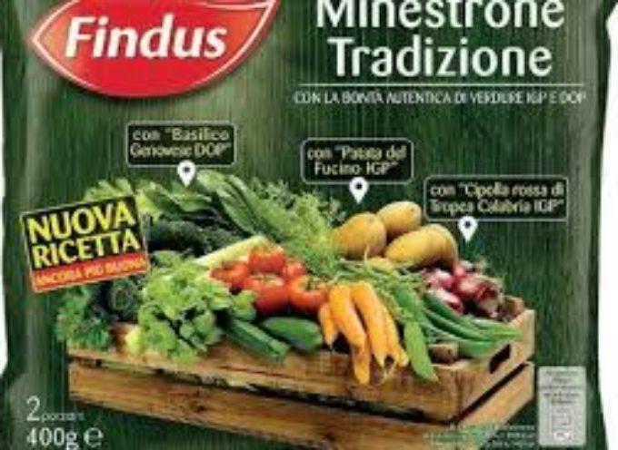 Findus richiama 14 lotti di minestrone surgelato per potenziale presenza di Listeria monocytogenes.
