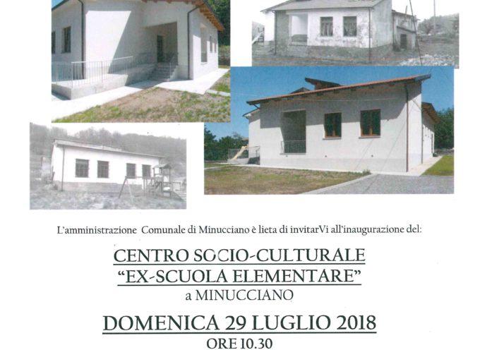 Inaugurazione nuova struttura socio culturale a Minucciano
