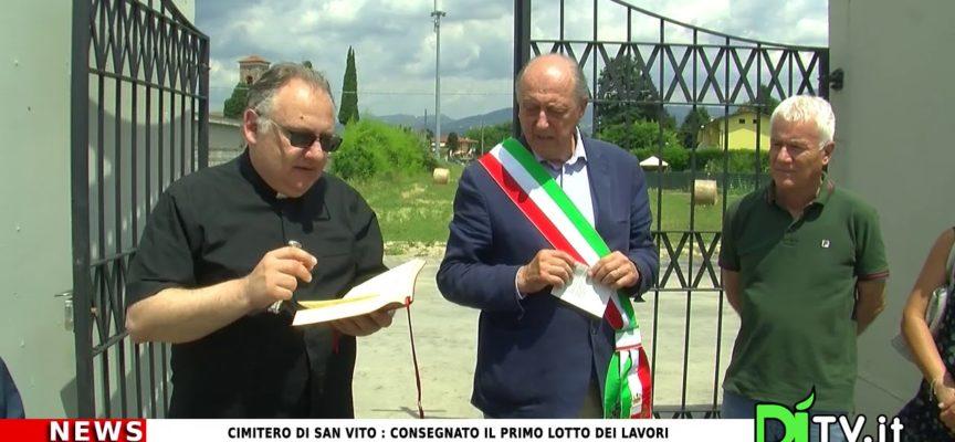 Cimitero di San Vito : consegnato il primo lotto dei lavori.