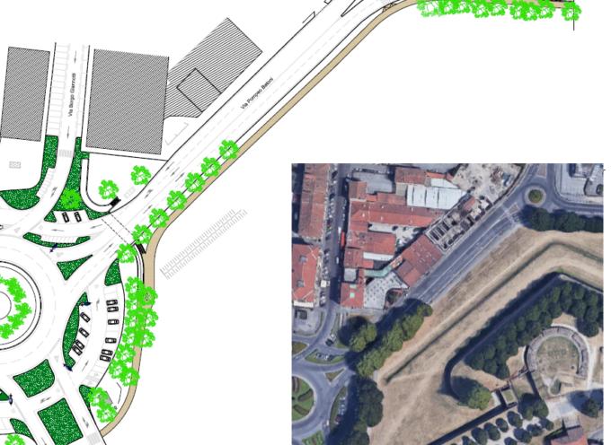 Presto riqualificato il percorso fra Porta Santa Maria e la rotatoria di viale Matteo Civitali