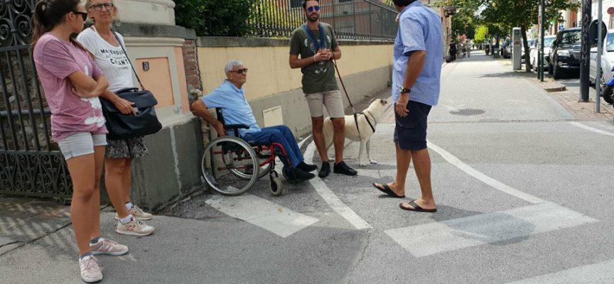 San Concordio isolata portatore di handicap non passa