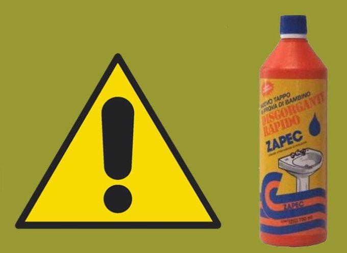 Il tappo è difettoso, bimbo beve acido solforico. Ministero della salute segnala sequestro penale del prodotto