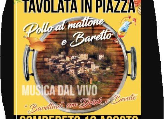 La Piazza a Tavola.. Gombereto, Bagni di Lucca