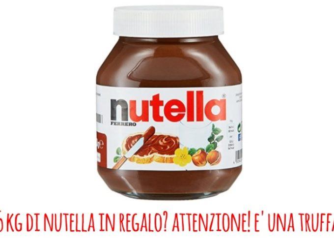 In regalo 5 kg di Nutella: la truffa che gira su WhatsApp e ti prosciuga il credito