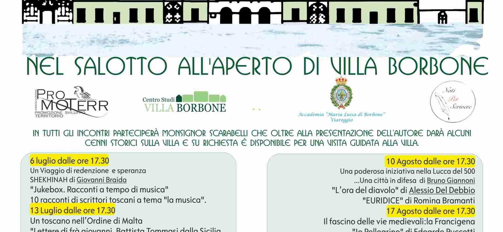 CS Venerdì letterari a Villa Borbone, Viareggio – terzo incontro, 20 luglio 2018