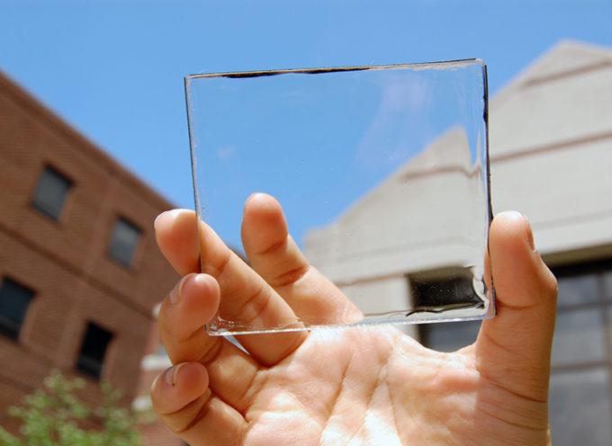 Pannello solare trasparente per produrre energia dalle finestre di casa
