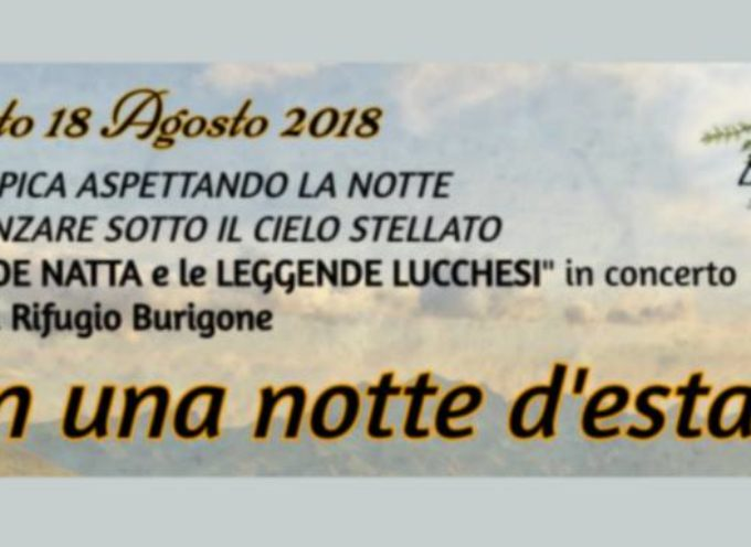 AL RIFUGIO IL BURIGONE, SABATO 18 SI BALLA SOTTO LE STELLE