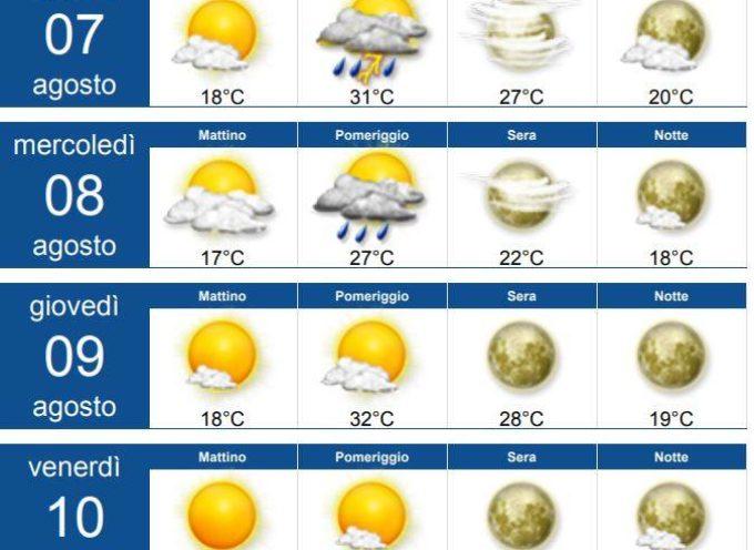 il Meteo per la Valle del Serchio, Aggiornamento  al 6 agosto