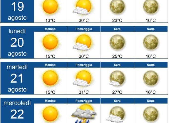 Meteo per la Valle del Serchio, Aggiornamento  al 18 agosto