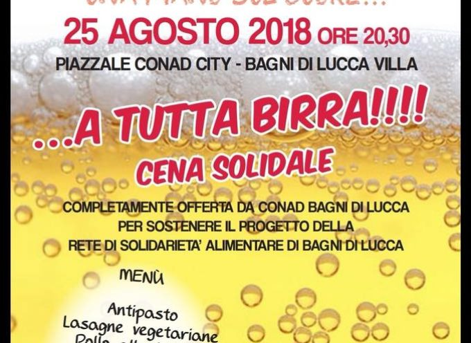 Cena a Sostegno della Solidarità Alimentare, a  Bagni di Lucca