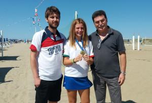 Elena Francesconi con Alberto e Andrea Tommasi