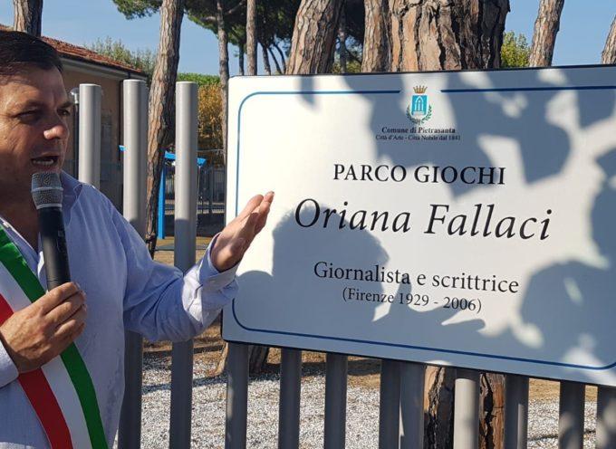 Tonfano: aperto il parco di Oriana Fallaci, un nuovo spazio green per attività ludico-sportive