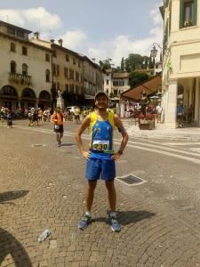 Massimiliano Vitellaro all'ultramaratona di Asolo