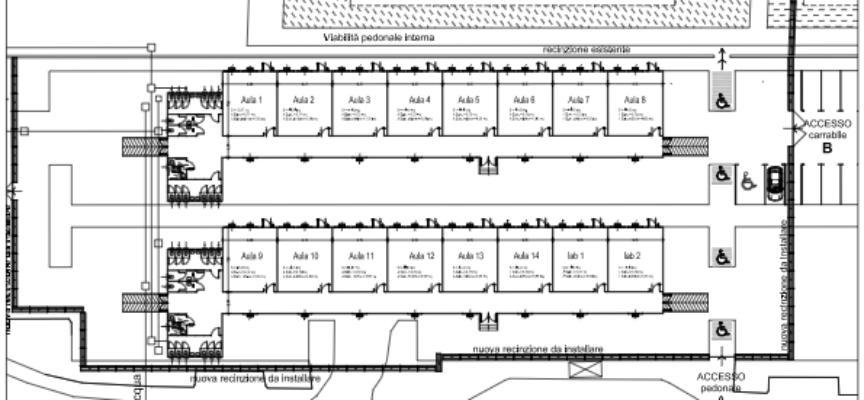 E' in corso la gara per il noleggio dei moduli prefabbricati provvisori per l'Istituto Paladini Civitali