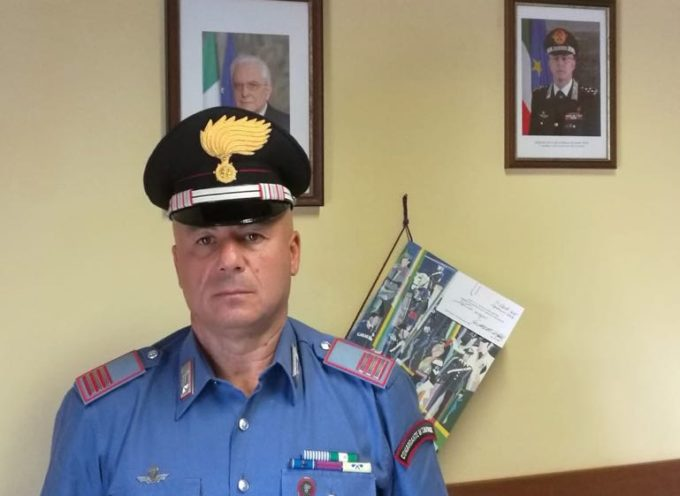 il nuovo comandante della stazione dei carabinieri di Ponte a Moriano, il maresciallo Franco capocetta