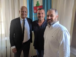 da sx Marco Simonetti, Leonardo Fornaciari e Domenico Raimondi