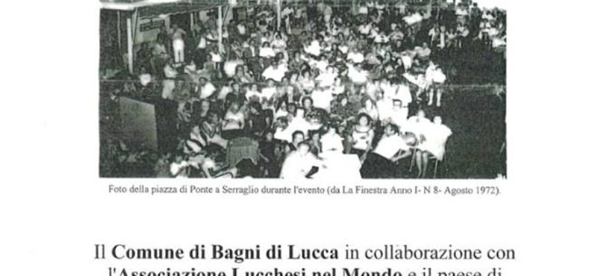 Festa dell'Emigrante 2018, a  Casabasciana, di Bagni di Lucca