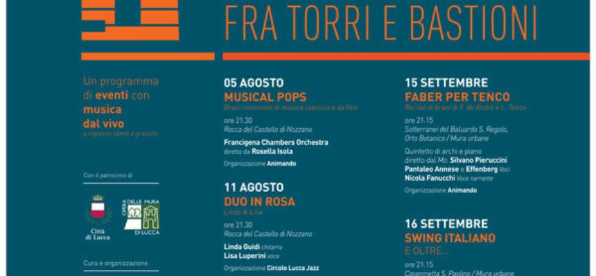 """""""Musica d'estate – fra torri e bastioni"""": Jazz e musica classica risuonano negli spazi suggestivi della città"""