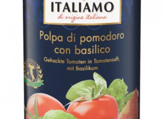 Plastica in passata di pomodoro italiana venduta da Lidl in Germania.