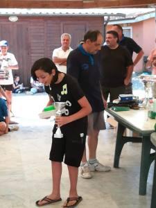 un momento premiazione scuola pesca Lenza S. Alessio 2018