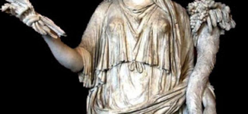 Nell'Antica Roma, 4 ottobre: Festa in onore della Dea Cerere, Ieiunium Cereris, Digiuno di Cerere