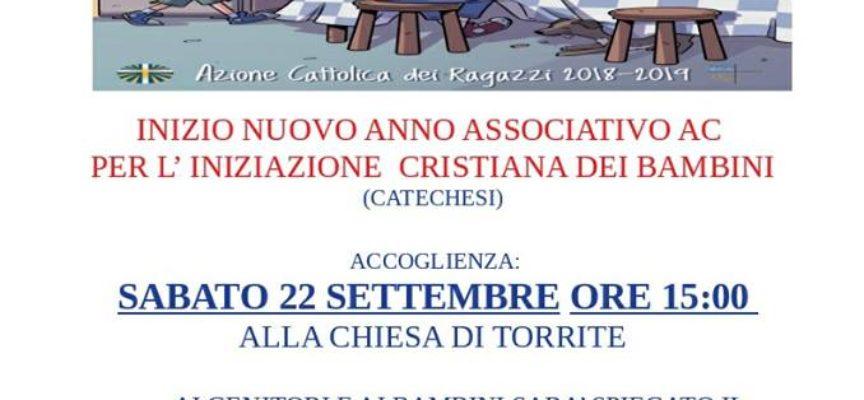 ALLA CHIESA DI TORRITE, SABATO 22 SETTEMBRE