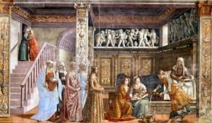 8 settembre -nascita-della-beata-vergine-maria-di-domenico-ghirlandaio-chiesa-di-santa-maria-novella-firenze