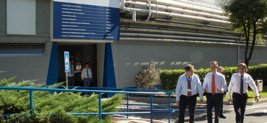 Il Console Americano a Firenze Benjamin V. Wohlauer visita l'impianto Kedrion di Bolognana, Lucca