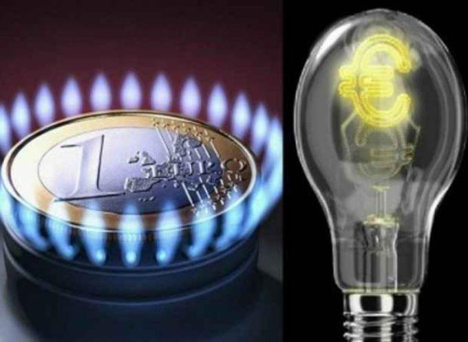 Energia: aumenti record in bolletta. +7,6% per l'elettricità, + 6,1% per il gas.