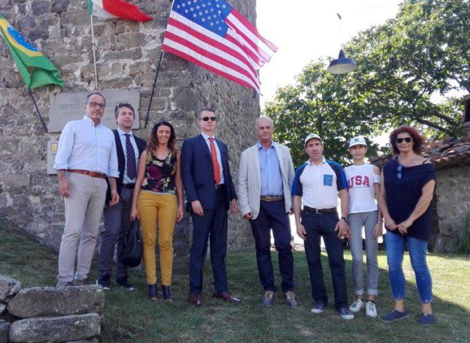 Il Console generale americano a Firenze, Benjamin Wohlauer,  ha visitato Sommocolonia