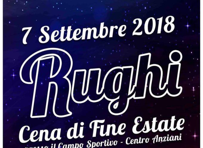 Venerdì a Rughi serata di fine estate, giochi, divertimento, sport e una cena a base di specialità toscane