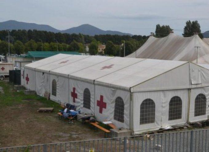 iniziata stamani la dismissione della tensostruttura centrale nella sede della Croce Rossa